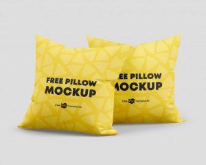 Free Pillow Mockup Set