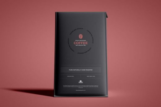 Free Pouch Packaging Coffee Bag Mockup