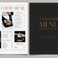 Free Restaurant Fast Food Menu Template (PSD)