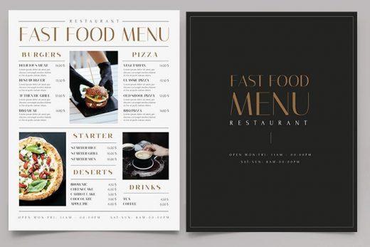 Free Restaurant Fast Food Menu Template (PSD)