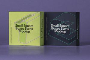 Free Small Square Box Mockup