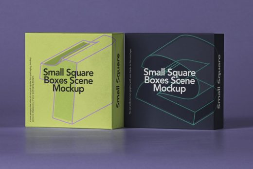 Free Small Square Box Mockup