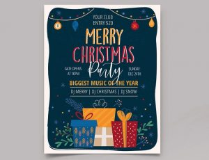 Free X-Mas Invitation Flyer 2020 Template (PSD)
