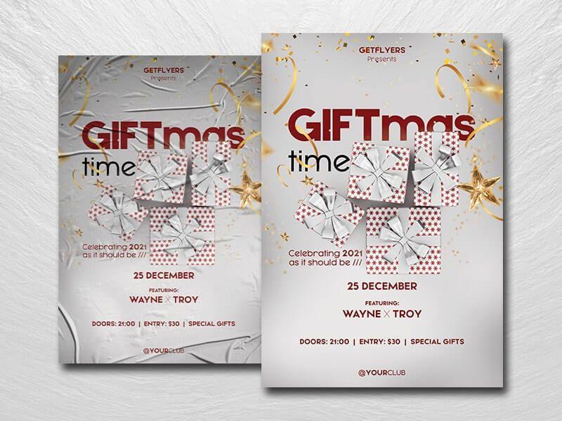 Giftmas - Free Christmas Flyer Template (PSD)