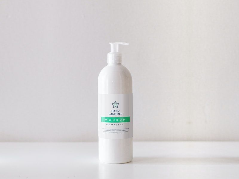 Hand Sanitizer Free Mockup