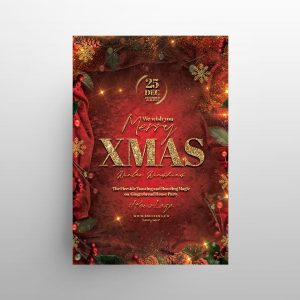Happy X-Mas 2020 Free Flyer Invitation Template (PSD)