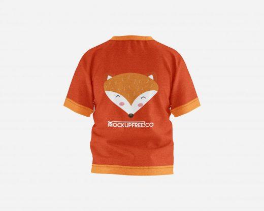 Kids T-Shirt Set Free Mockup (PSD)