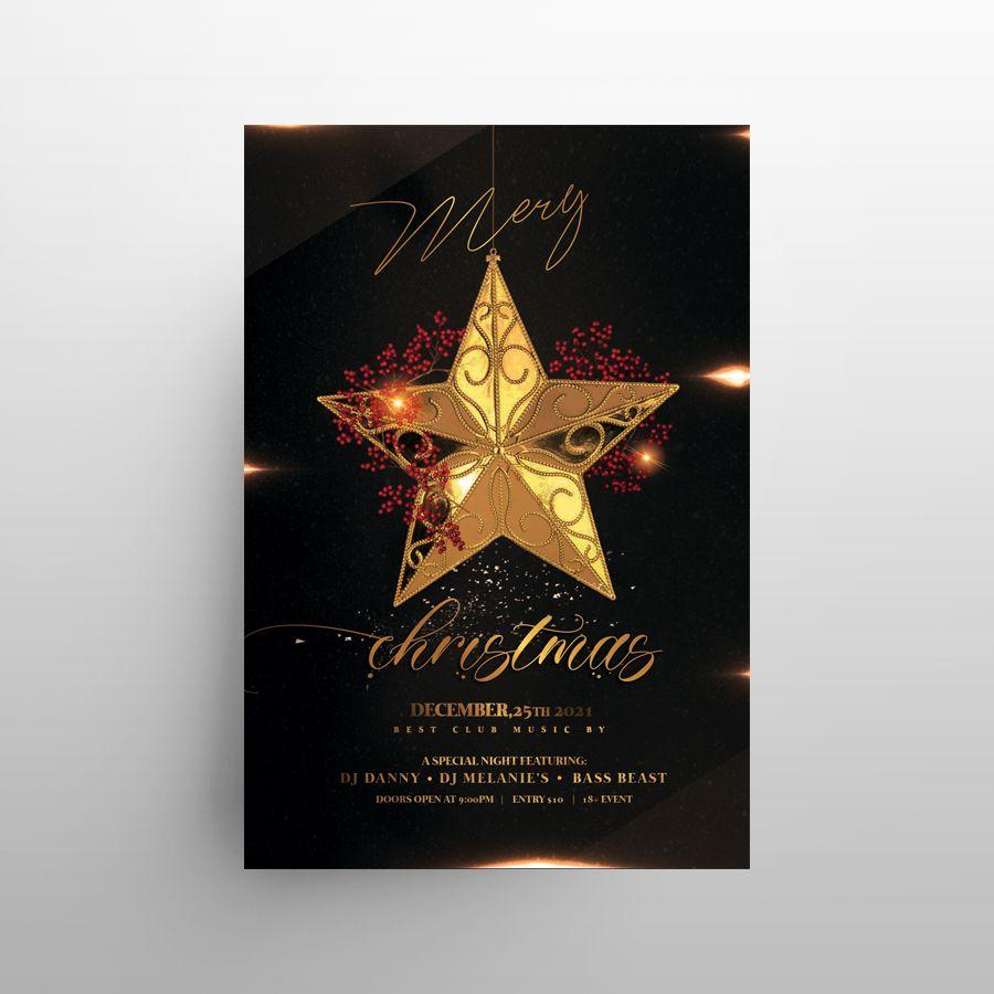 Luxury Christmas Invitation 2020 Free Flyer Template (PSD)