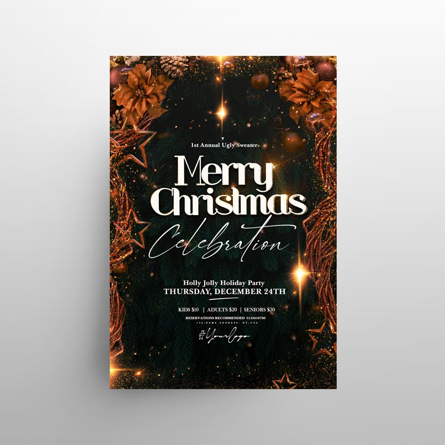 Merry Christmas 2020 Free Flyer Template (PSD)