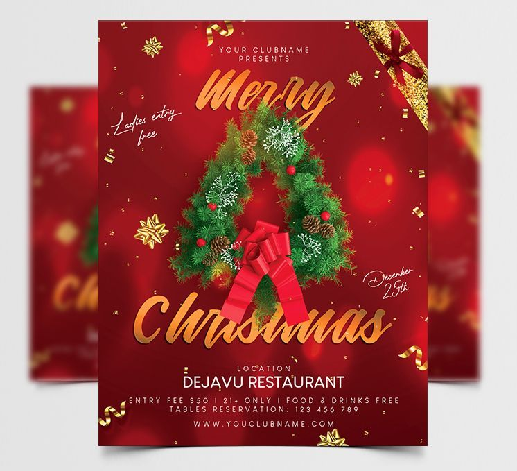 Merry Christmas Free Flyer Template (PSD)