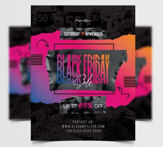 Modern Black Friday Free Flyer Template (PSD)