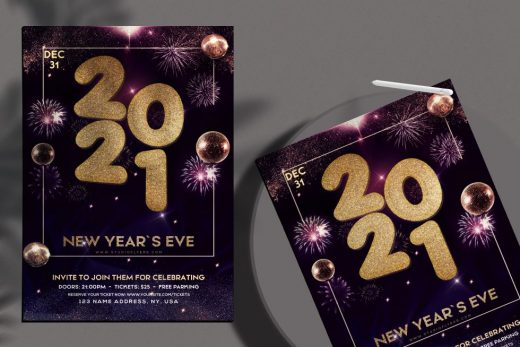 NYE Party Free Flyer Template (PSD)