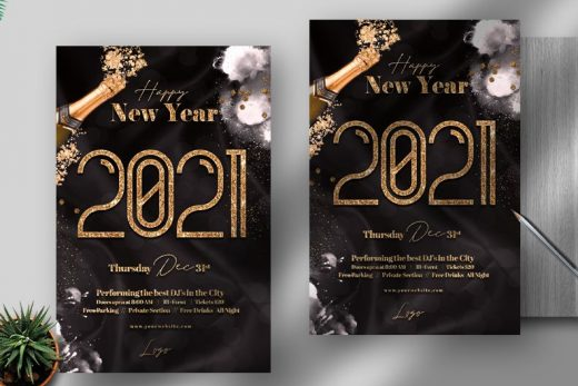New Years 2021 Free Flyer Template (PSD)