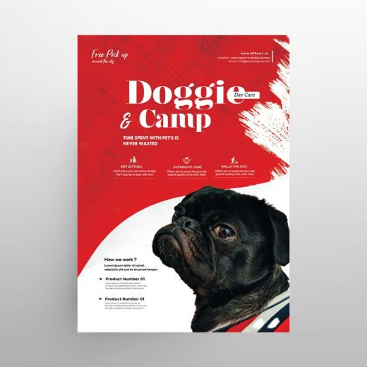 Pet Care Service Free Flyer Template (PSD)