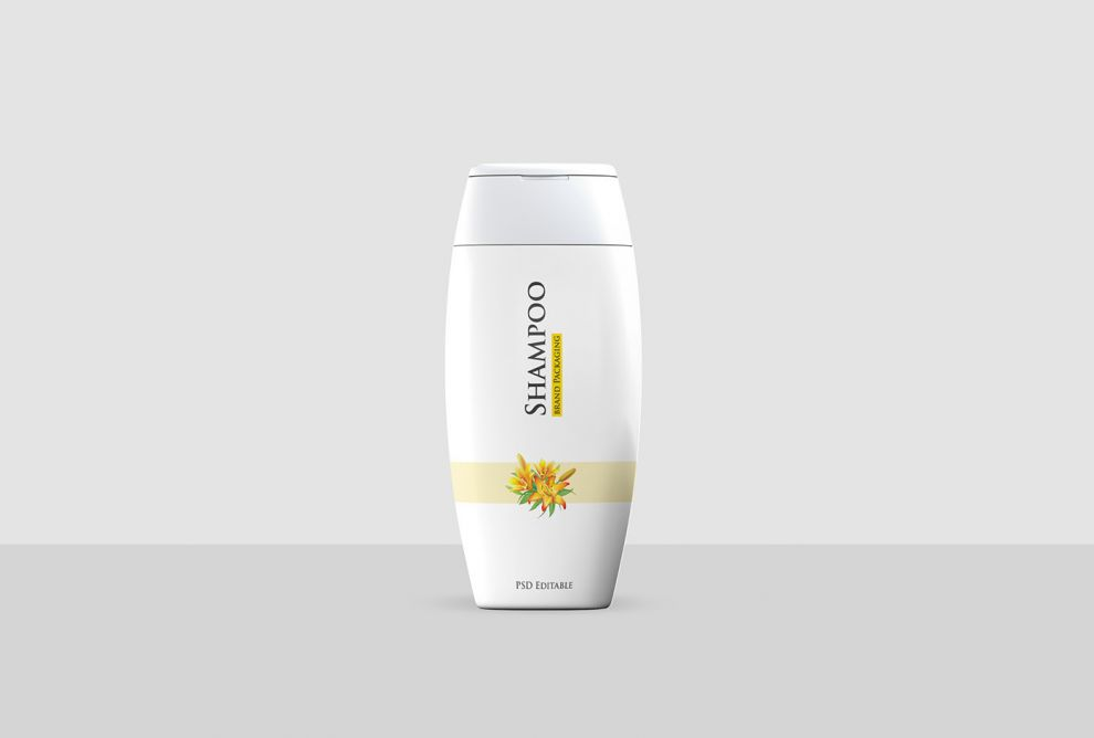 Shampoo Bottle Free Mockup