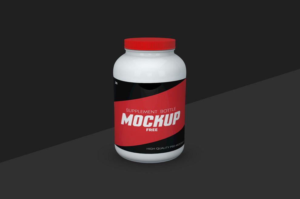 Supplement Bottle Free Mockup