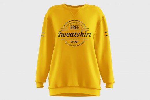 Women's Sweatshirt Free Mockup