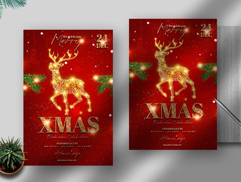 X-Mas Night Free Event Flyer Template (PSD)