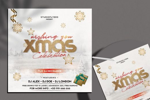 X-mas Celebration Flyer Free Template (PSD)