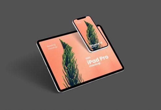 Free Floating iPhone 12 & iPad Pro Mockup