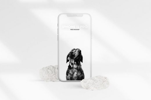 iPhone 12 PRO Clay Scene Free Mockup