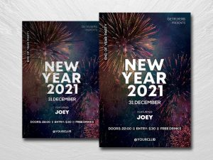 2021 NYE Party Free Flyer Template (PSD)