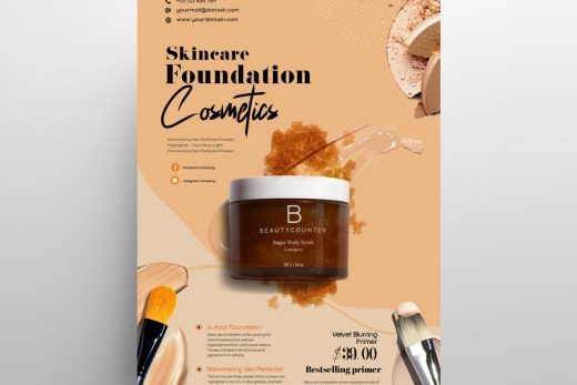 Beauty Care Ad Free Flyer Template (PSD)