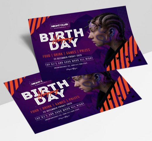 Birthday Night Party Free Flyer Template (PSD)