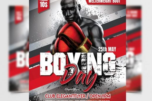 Boxing Day Tournament Free Flyer Template (PSD)