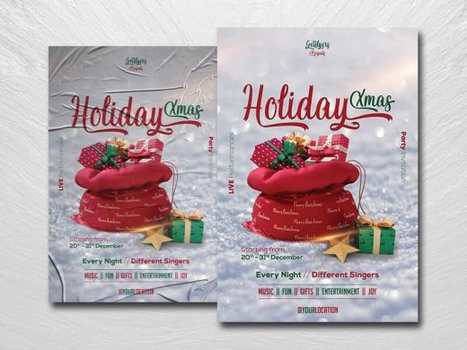 Christmas Day Event Free Flyer Template (PSD)