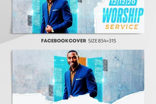 Church Event Free Facebook Cover Templates (PSD)