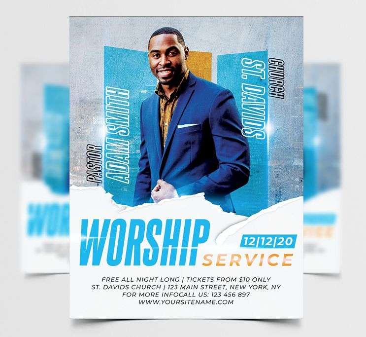 Church Workship Free Flyer Template (PSD)