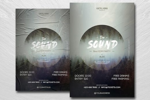 EDM DJ Party Free Flyer Template (PSD)