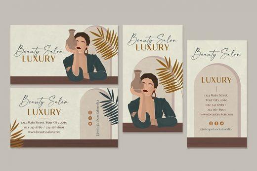 Free Beauty Salon Business Card Templates (PSD)