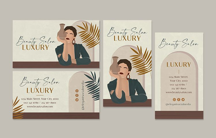 Free Beauty Salon Business Card Templates (PSD)