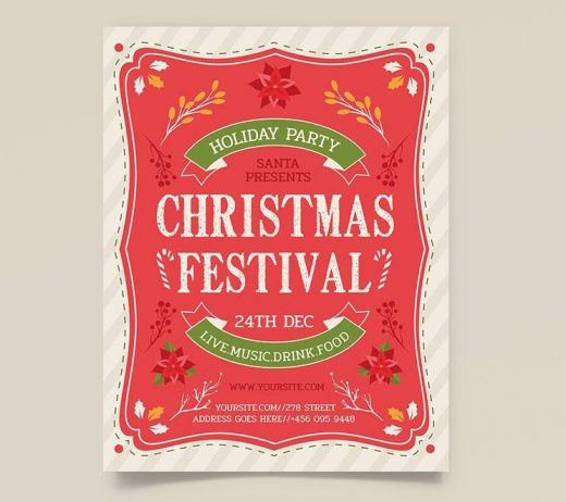 Free Christmas Festival Flyer Template (PSD)