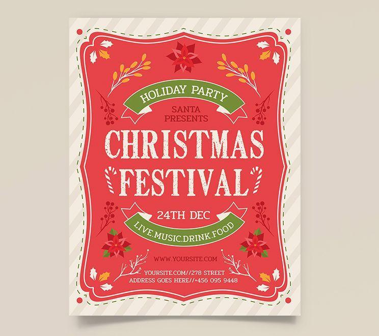 Free Christmas Festival Flyer Template (PSD)