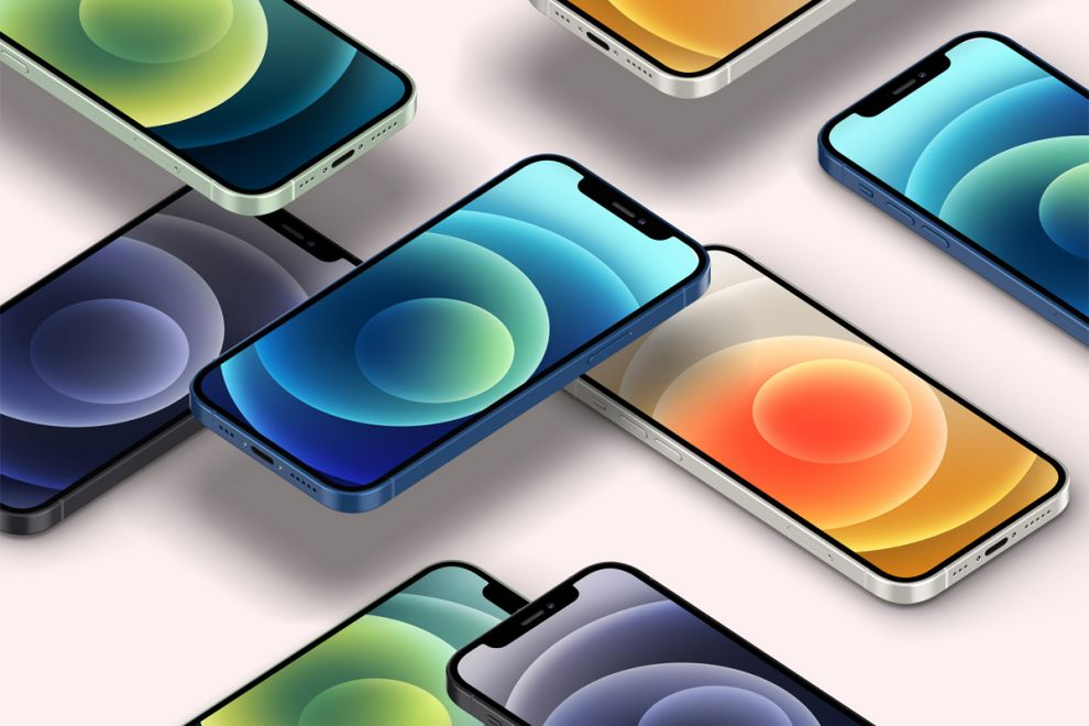 Free Perspective Iphone 12 Mockup