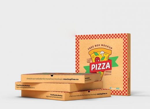 Free Pizza Box Mockup (PSD)