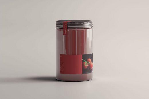 Free Tomato Jar Mockup (PSD)
