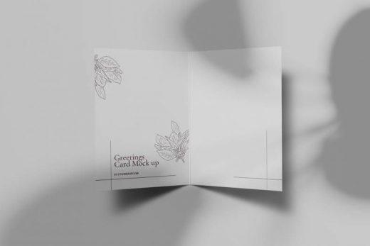 Greeting Card Free Mockup (PSD)