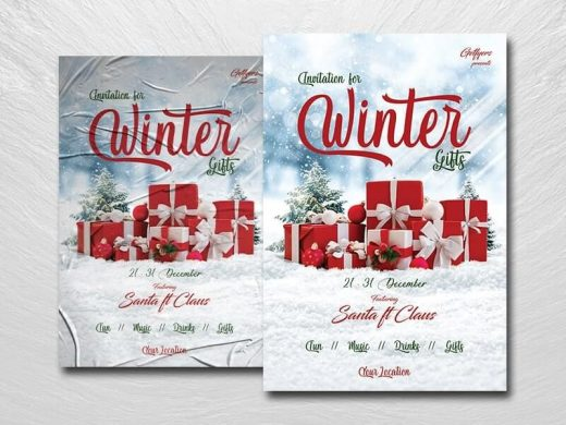 Holiday & Christmas Free Flyer Template (PSD)