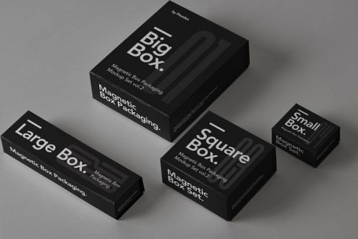 Magnetic Box Packaging Free Mockup