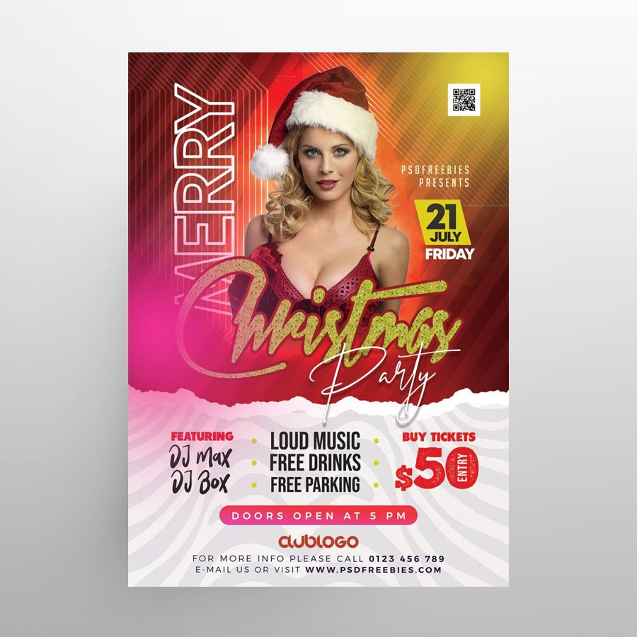 Merry X-Mas Free Flyer Template (PSD)
