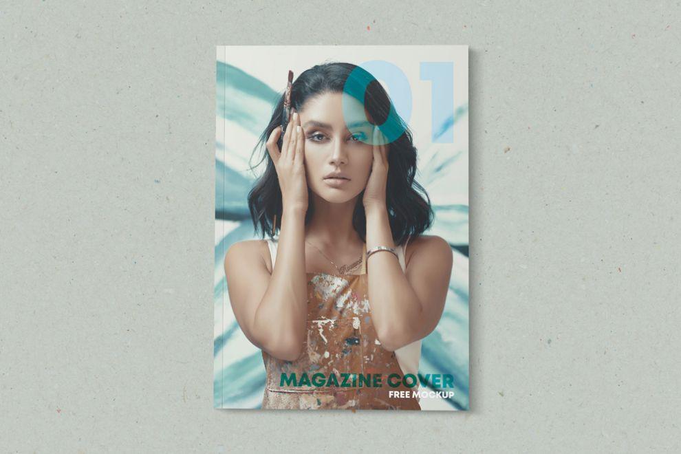 Minimalist Magazine Cover Free Mockup