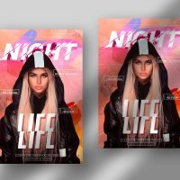 Night Life Party DJ Free Flyer Template (PSD)