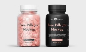 Pills Bottle Jar Free Mockup