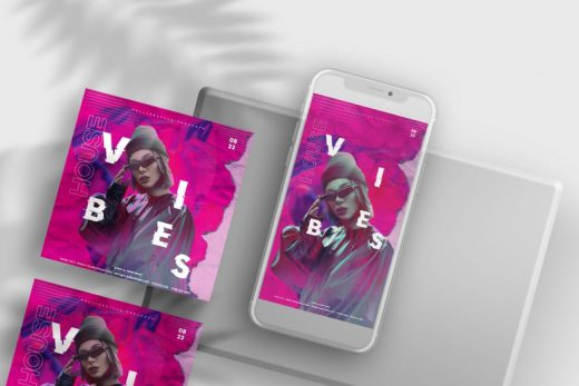 Pink Vibe Party Instagram Banners Templates