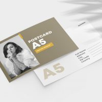 Postcard 2 Sided Free Mockup