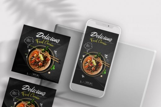 Restaurant Ad Free Instagram Banners Templates